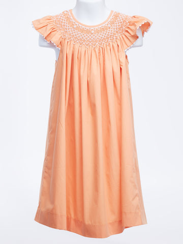 Pretty as a Peach Smocked Pearl Bishop Dress