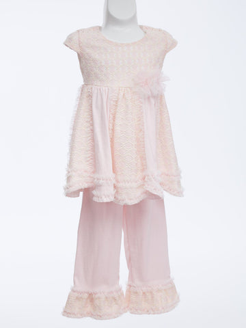 Luscious Pink Lace Set for Baby Girl & Toddler