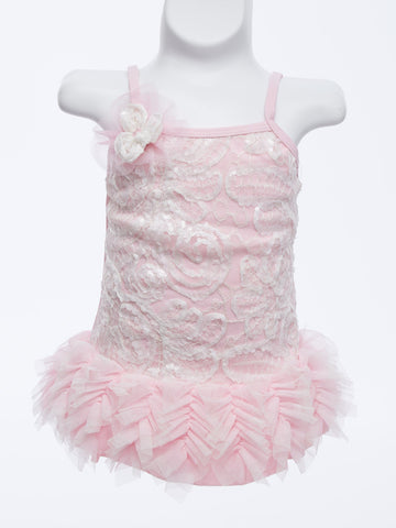 Pink Perfection Ruffled 1pc. Swimsuit