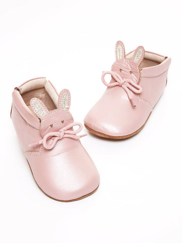 Light Pink Shimmer Classic Baby Bunny Shoe