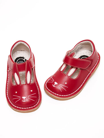 Livie & Luca Leather Bunny Shoe in Red