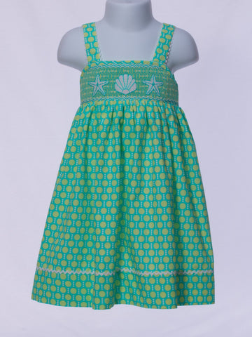Seashells & Starfish Smocked Sundress