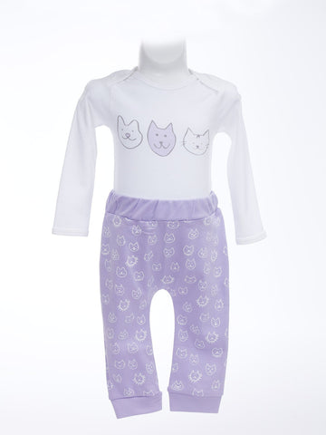 Happy Kitty Long Sleeve Onesie