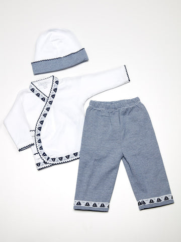 Four Piece Baby Boy Layette