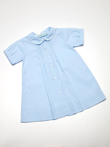 Newborn Baby Boy Daygown with Scallop Embroidery