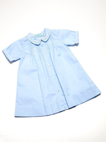 Newborn Day Gown with Detailed Collar