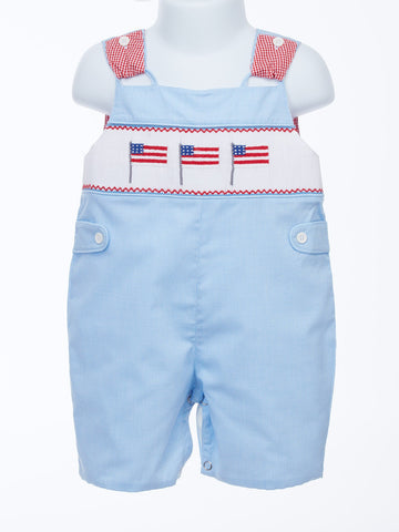 Celebrate the Red, White and Blue With Flag Tab Baby Shortall