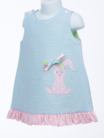 Super Fun Reversible Jumper With Bunny & Frog