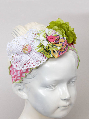 Fashion Statement Headband with Flowers