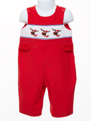 Mom & Me Baby Boy Smocked Reindeer Longall