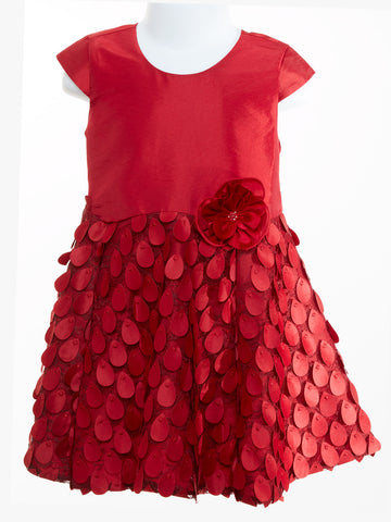 Isobella & Chloe Girl's Drop Waist Holly Dress