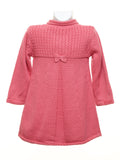 Mayoral - Rosee Pink Knit Coat with Bonnet