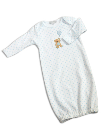 Appliqued Boy's Beary Sweet Gown