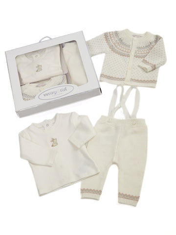 Mayoral Boxed Three Piece Sweater Set for the Baby Boy