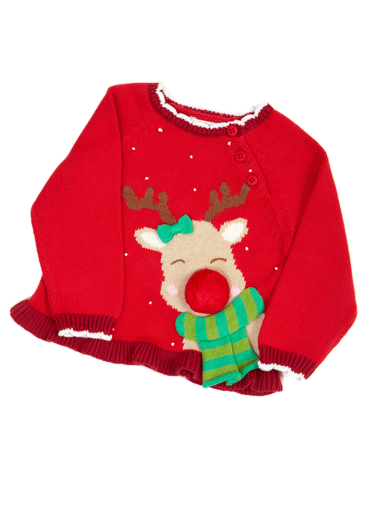 624fea495abc Zubels Girls Reindeer Sweater – Ootza Wootza