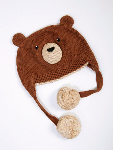 Zubels Boy's Brown Bear Hat