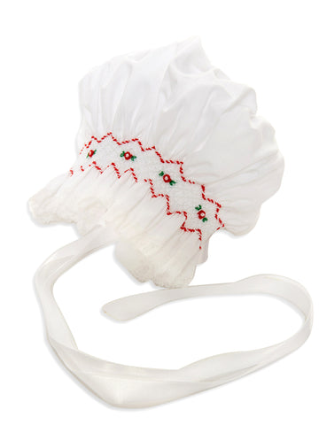 Feltman Bros. Smocked Holiday Bonnet