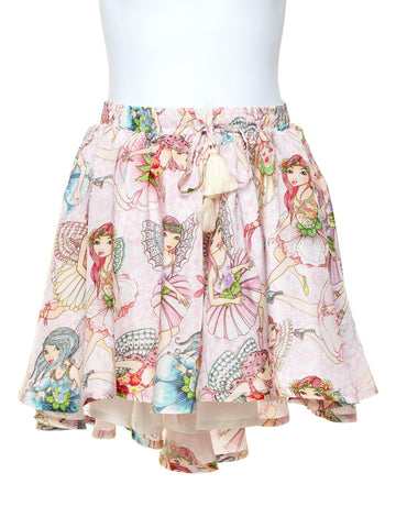 Girls Circle Skirt - Flower Fairies