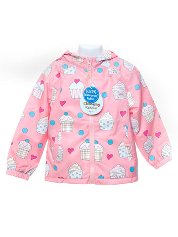 Holly and Beau Pink Cupcake Pack Away Raincoat