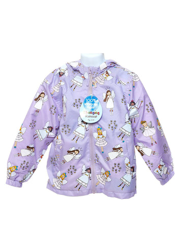 Holly and Beau Purple Fairy Packaway Raincoat