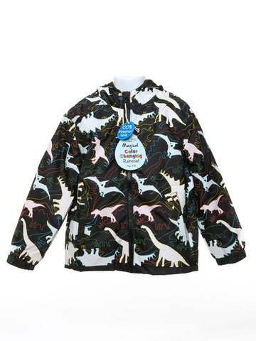 Holly and Beau Black Dinosaur Packaway Raincoat