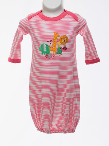 Appliqued Layette Gown