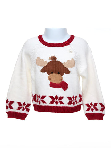 Snowflake Design Moose Sweater