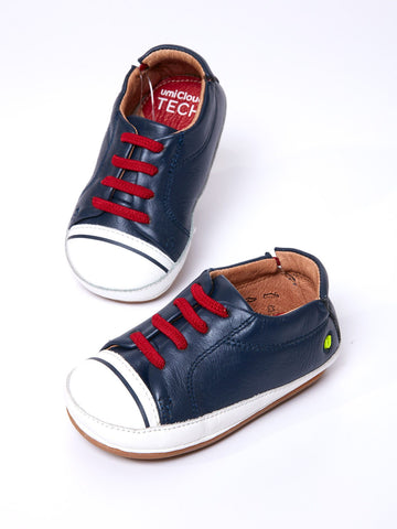 Baby Shoe in Navy Leather