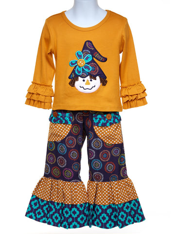 Long Sleeve Scarecrow Top w. Ruffle Pants