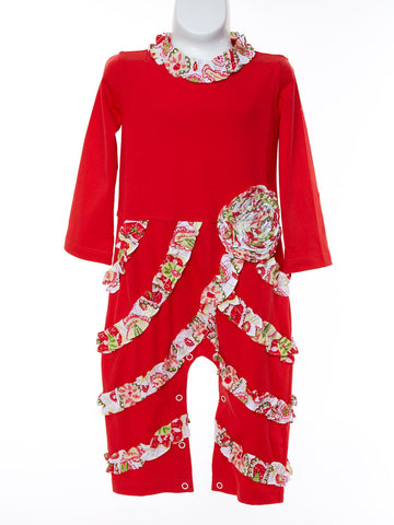 Radiant in Red Knit Bailey w. Christmas rouching