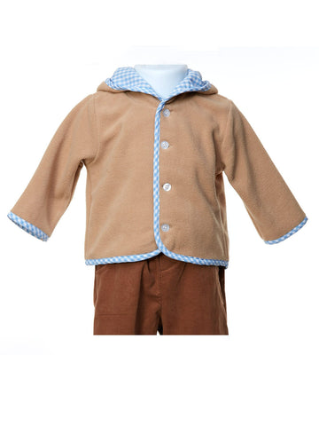 Chill Chaser Brown Fleece Boys Hooded Jacket