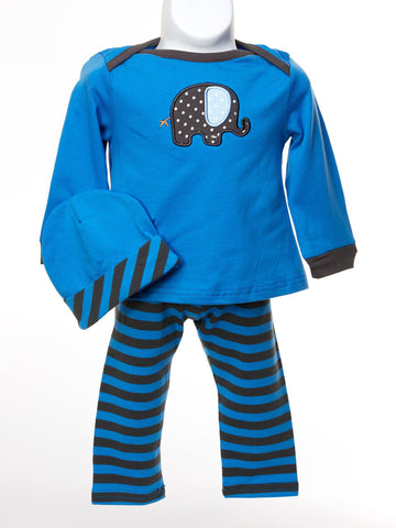 Circus Circus Boys Set with Elephant Motif & Hat