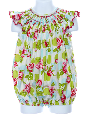 Three Sisters Enchanted Garden Smocked Bubble