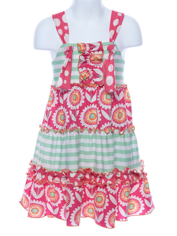 Three Sisters Tropical Punch Knot Tie Dress