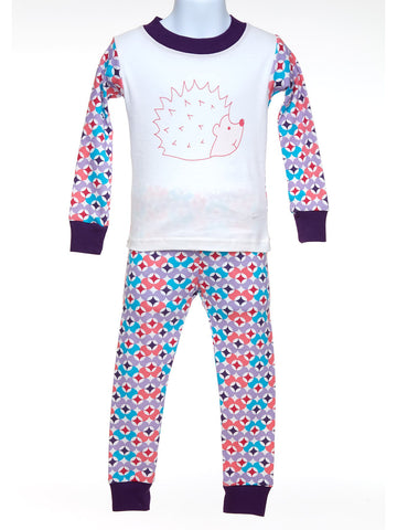 Baby & Boys Long Johns in Prism Print Plum