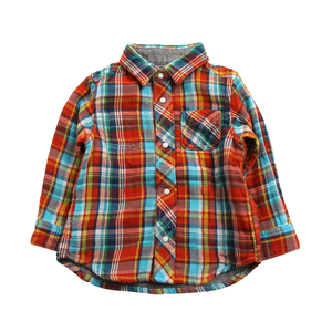Bit'z Kids Baby Boy Reversible Shirt & Lined Denim Pants