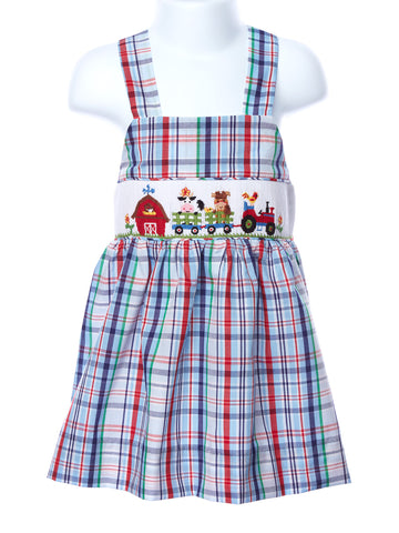 Zuccini Smocked Farm Girl Dress