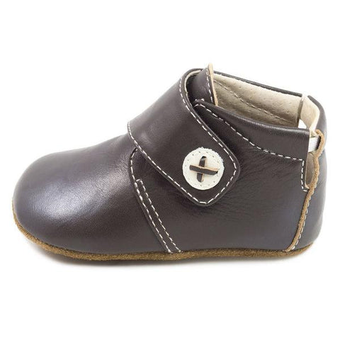 Livie & Luca Benny Brown Leather Baby Bootie
