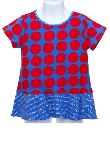 Splot Dot Short Sleeve Top