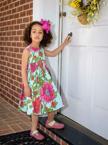 Bold Flowers Smocked Dress