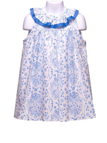 Funtasia Too Blue & White Print Float Dress