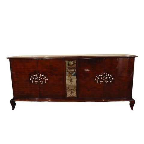 Rosewood Buffet Inlaid with Abalone Shell