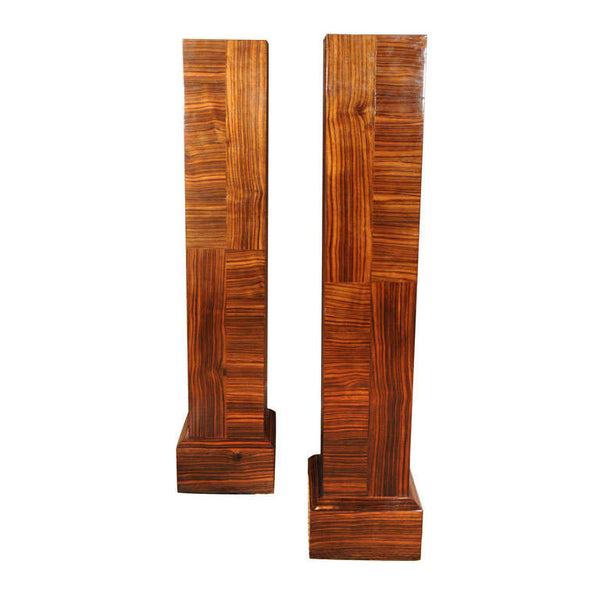 Pair of Rosewood Pedestals by Maison Jansen, Signed