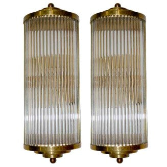 Pair of Murano Sconces by Venini