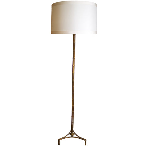 Gilt Floor Lamp by Bagues, France