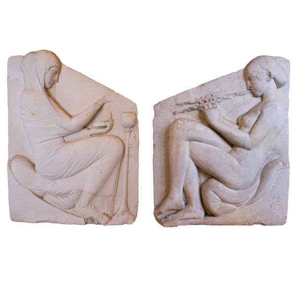 Pair of French Plaster Museum Casts