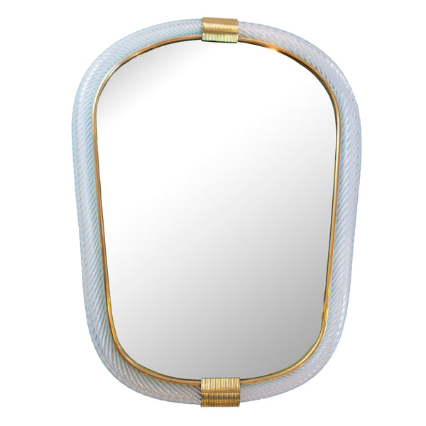 Brass & Murano Glass Mirror