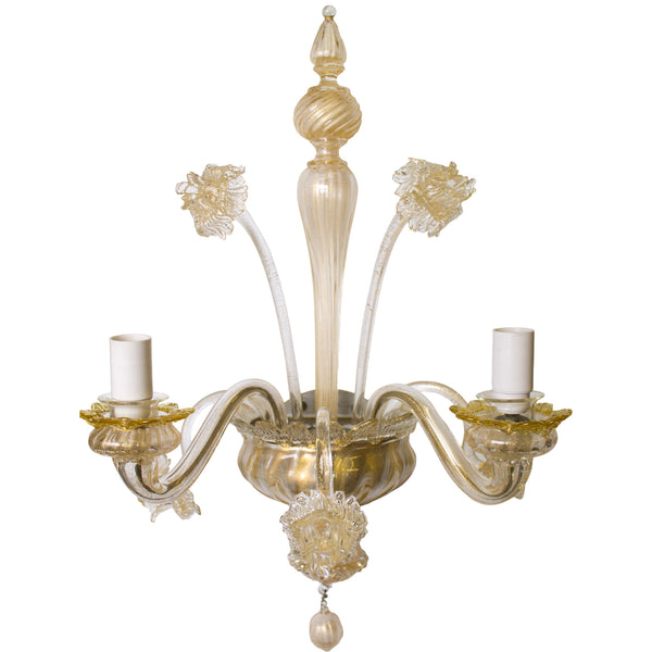Pair of Gold Venetian Sconces