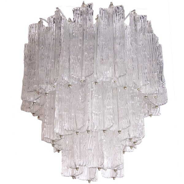 Clear Murano Chandelier by Toni Zuccheri, 1950's