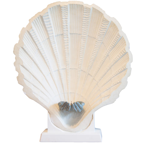 French Seashell Lamp in Plaster